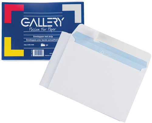 Gallery enveloppen stripsluiting 50 stuks 114 x 162mm