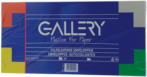 Gallery enveloppen stripsluiting 50 stuks 114 x 229mm
