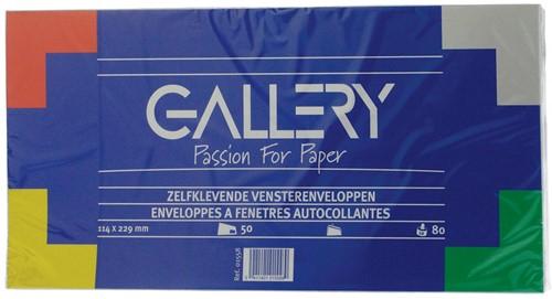 Gallery enveloppen stripsluiting venster 50 stuks 114 x 229