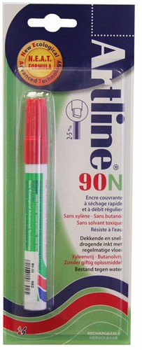 Artline 90 permenent marker rood