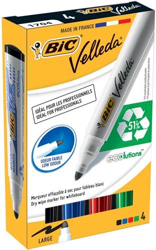 Bic whiteboard marker 1701 4-kleuren