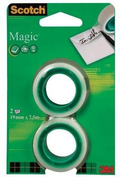 Scotch plakband Magic Tape 19mm x 7,5m 2 rollen
