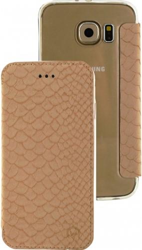Mobilize Slim Gelly Booklet Samsung Galaxy S6 Soft Snake Creamy Rose