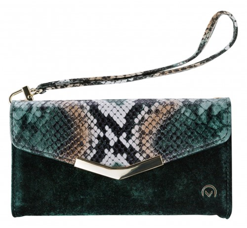 Mobilize 2in1 Gelly Velvet Clutch for Samsung Galaxy S10 Green Snake