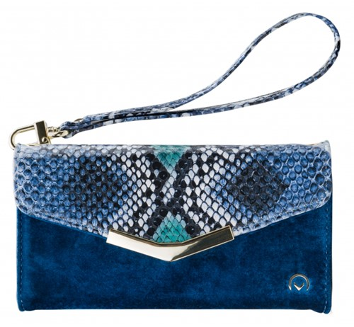 Mobilize 2in1 Gelly Velvet Clutch for Samsung Galaxy S10 Royal Blue Snake