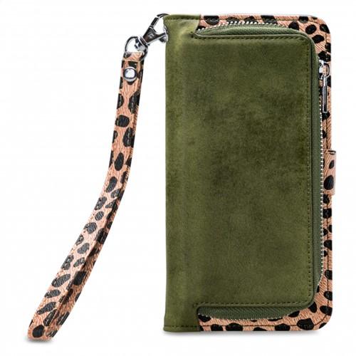 Mobilize 2in1 Gelly Zipper Case Samsung Galaxy A20e Olive/Leopard