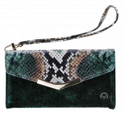 Mobilize 2in1 Gelly Velvet Clutch for Samsung Galaxy A41 Green Snake