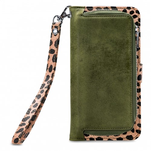 Mobilize 2in1 Magnet Zipper Case Apple iPhone 12 Pro Max Olive/Leopard