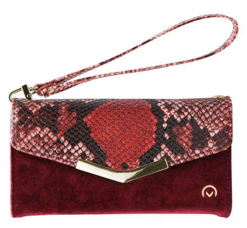Mobilize 2in1 Gelly Velvet Clutch for Apple iPhone 12/12 Pro Red Snake