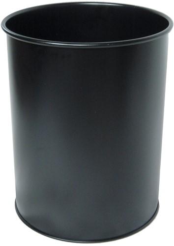 Durable papiermand zwart metaal