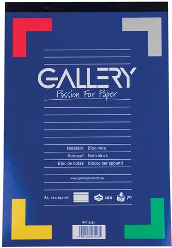 Gallery notitieblok A4 100vel 70g/m2