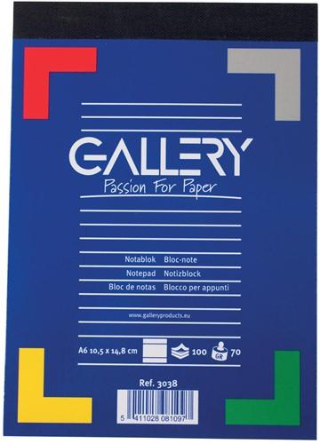 Gallery notitieblok A6 100vel 70g/m2