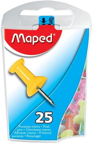 Maped push pins assorti 25 stuks