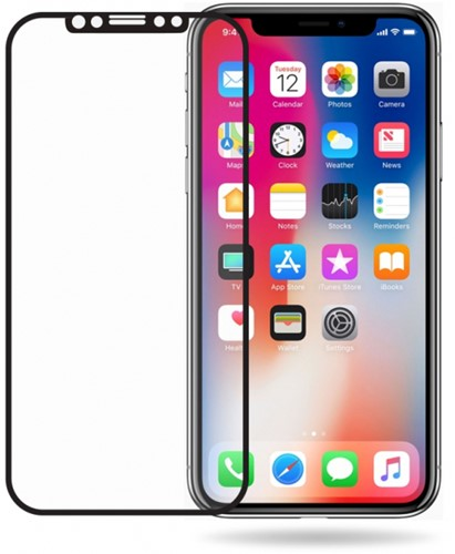 Mobilize Edge-To-Edge Glass Screen Protector Apple iPhone X/Xs/11 Pro Black Full Glue