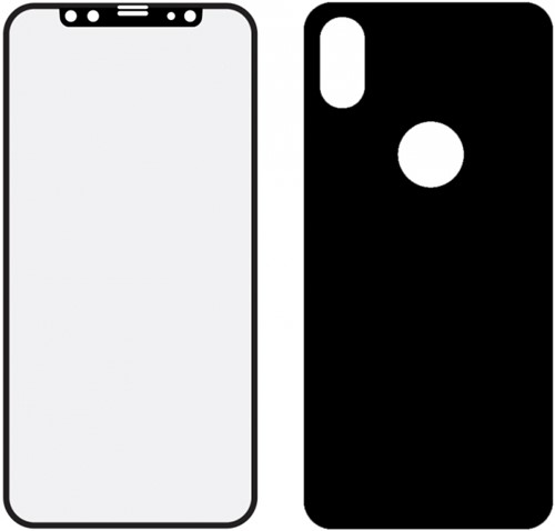 Mobilize Edge-To-Edge Glass Screen Protector Apple iPhone X/Xs Front and Back Pack Black Full Glue