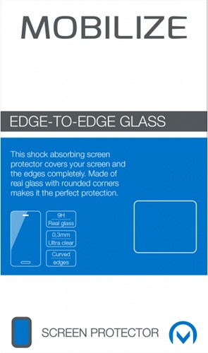 Mobilize Edge-To-Edge Glass Screen Protector Samsung Galaxy S9 Black