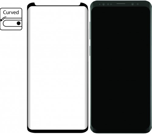 Mobilize Edge-To-Edge Glass Screen Protector Samsung Galaxy S9+ Black