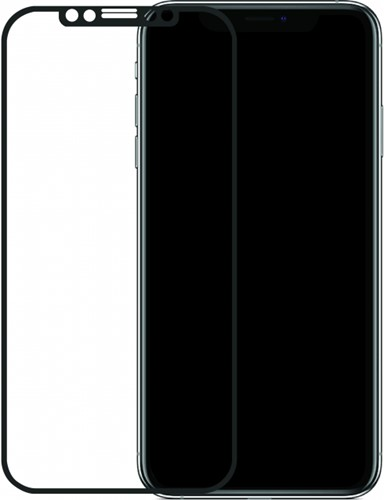 Mobilize Edge-To-Edge Glass Screen Protector Apple iPhone Xs Max/11 Pro Max Black Full Glue