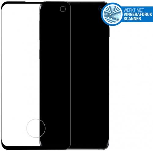 Mobilize Edge-To-Edge Glass Screen Protector Samsung Galaxy S10 Black Edge Glue