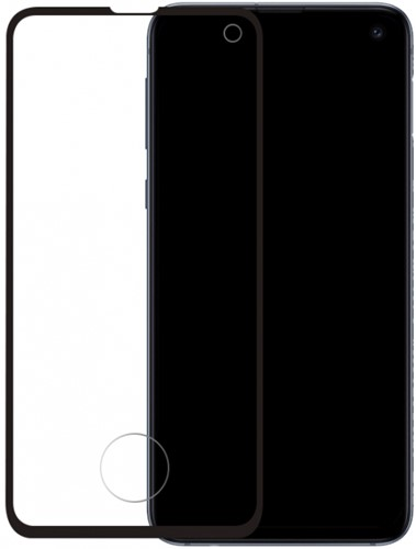 Mobilize Edge-To-Edge Glass Screen Protector Samsung Galaxy S10e Black Edge Glue