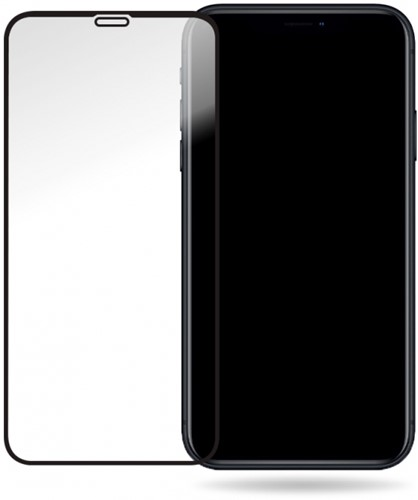 Mobilize Glass Screen Protector - Black Frame - Apple iPhone XR/11
