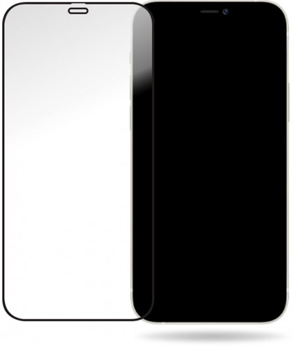 Mobilize Glass Screen Protector - Black Frame - Apple iPhone 12/12 Pro