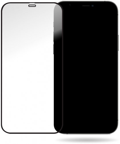 Mobilize Glass Screen Protector - Black Frame - Apple iPhone 12 Pro Max
