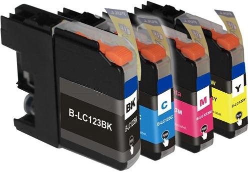 SecondLife - Multipack Brother LC121 / LC123 BK  C  M en Y