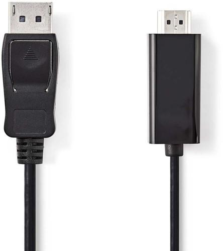 DisplayPort - HDMI-Kabel | DisplayPort Male - HDMI-Connector | 2,0 m | Zwart