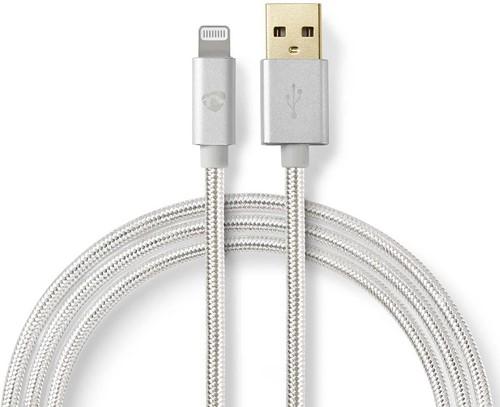 USB-Kabel | Apple Lightning | Apple Lightning 8-Pins | USB-A Male | Verguld | 3.00 m | Rond | Gebreid / Nylon | Aluminium | Cover Window Box