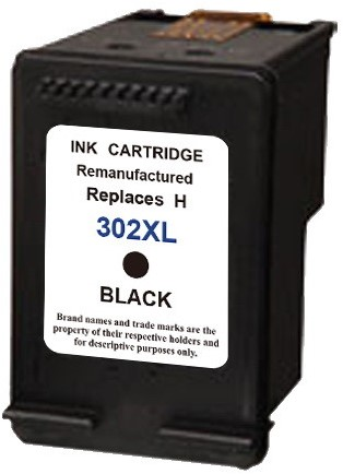 SecondLife - HP 302 XL Black