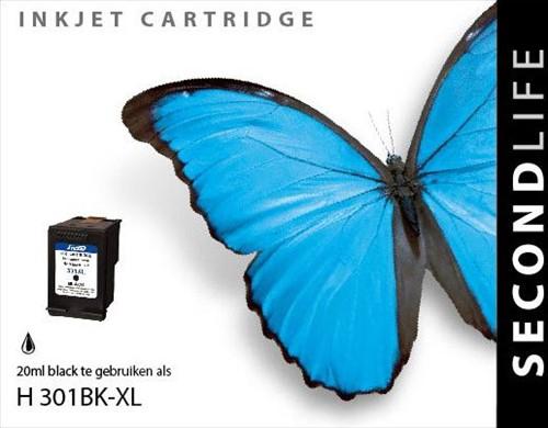 SecondLife - HP 301 XL Black