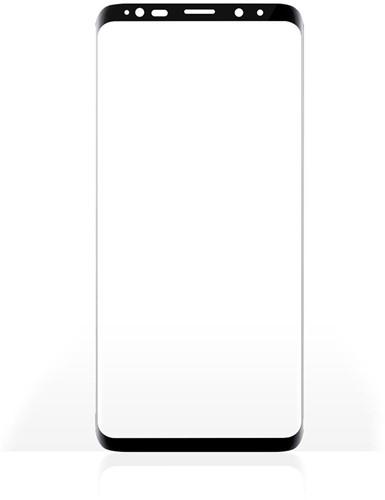 Screenprotector van Glas voor Samsung Galaxy S9 | Full Cover | 3D Curved | Transparant / Zwart