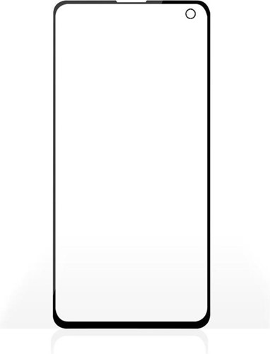 Screenprotector van Glas voor Samsung Galaxy S10 | Full Cover | 3D Curved | Transparant / Zwar